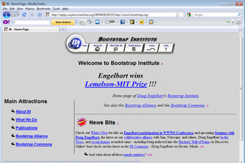 Screenshot 1997 homepage