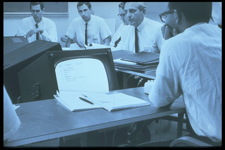 the first computer supported meeting -  1967