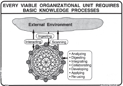 Figure-1: showing basic knowledge processes of any viable organization